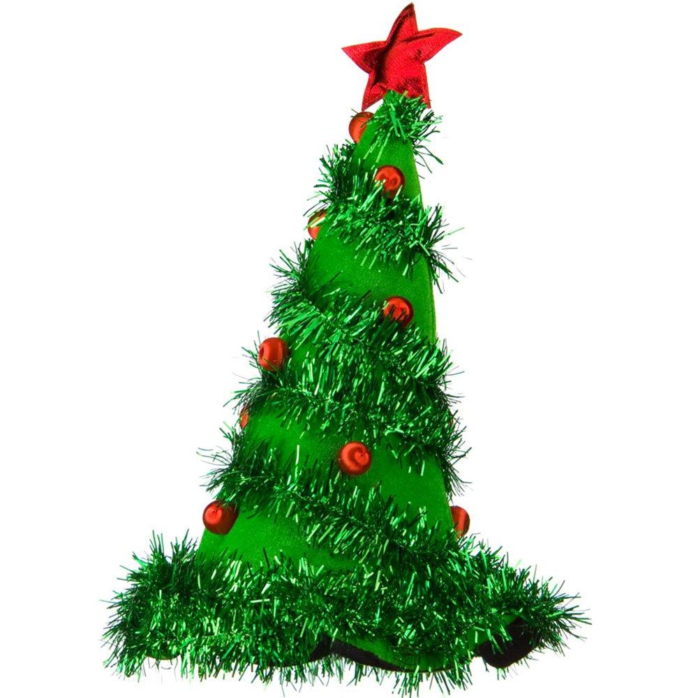 amazoncom light up christmas tree hat green pkg 1 clothing
