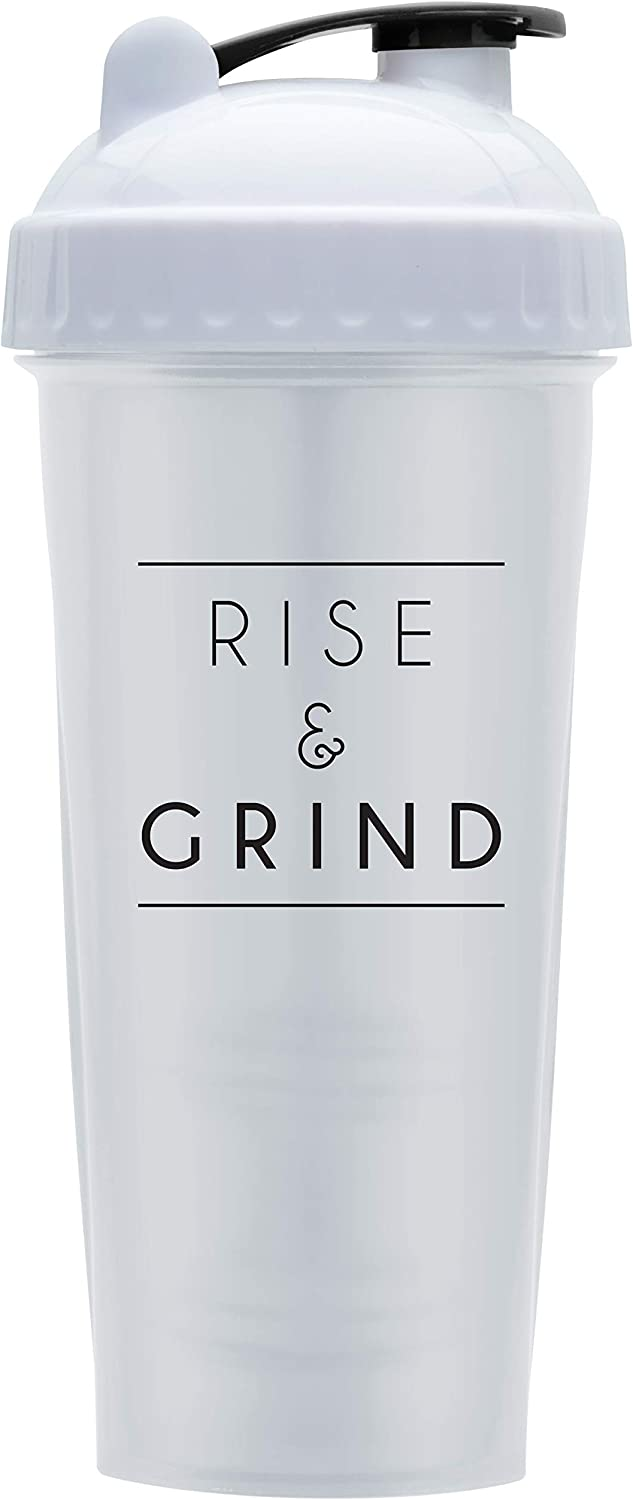 Motivational Quotes on Performa Perfect Shaker Bottle, 28 Ounce Classic Protein Shaker Cup, Dishwasher Safe, Perfect Gym Fitness Gift