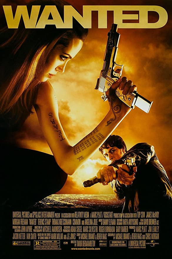 WANTED MOVIE POSTER 2 Sided ORIGINAL Advance 27x40 ANGELINA JOLIE