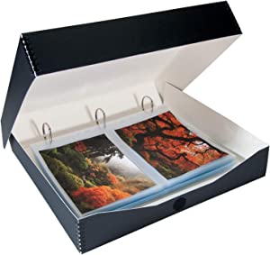 """Archival Oversized 3-Ring Album Box with Clamshell Style Lid, 13"""" x 11-7/16"""" x 2-3/8"""""""