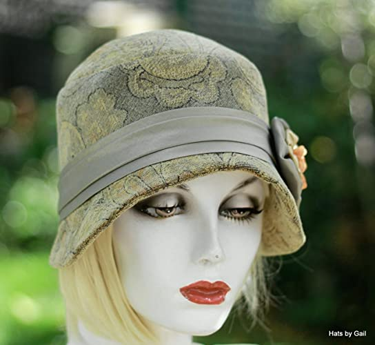 Image Unavailable. Image not available for. Color  Womens Dressy Formal  1920 s Vintage Style Cloche Hat 03045869fd2