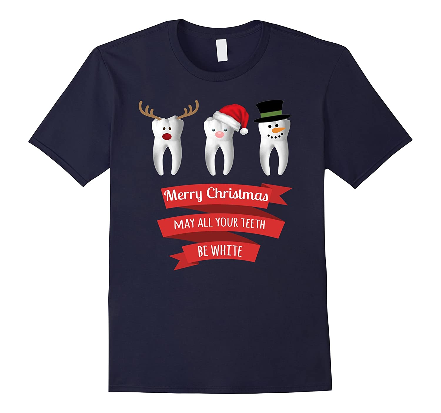 Dentist Funny Christmas Thanksgiving T Shirt-FL