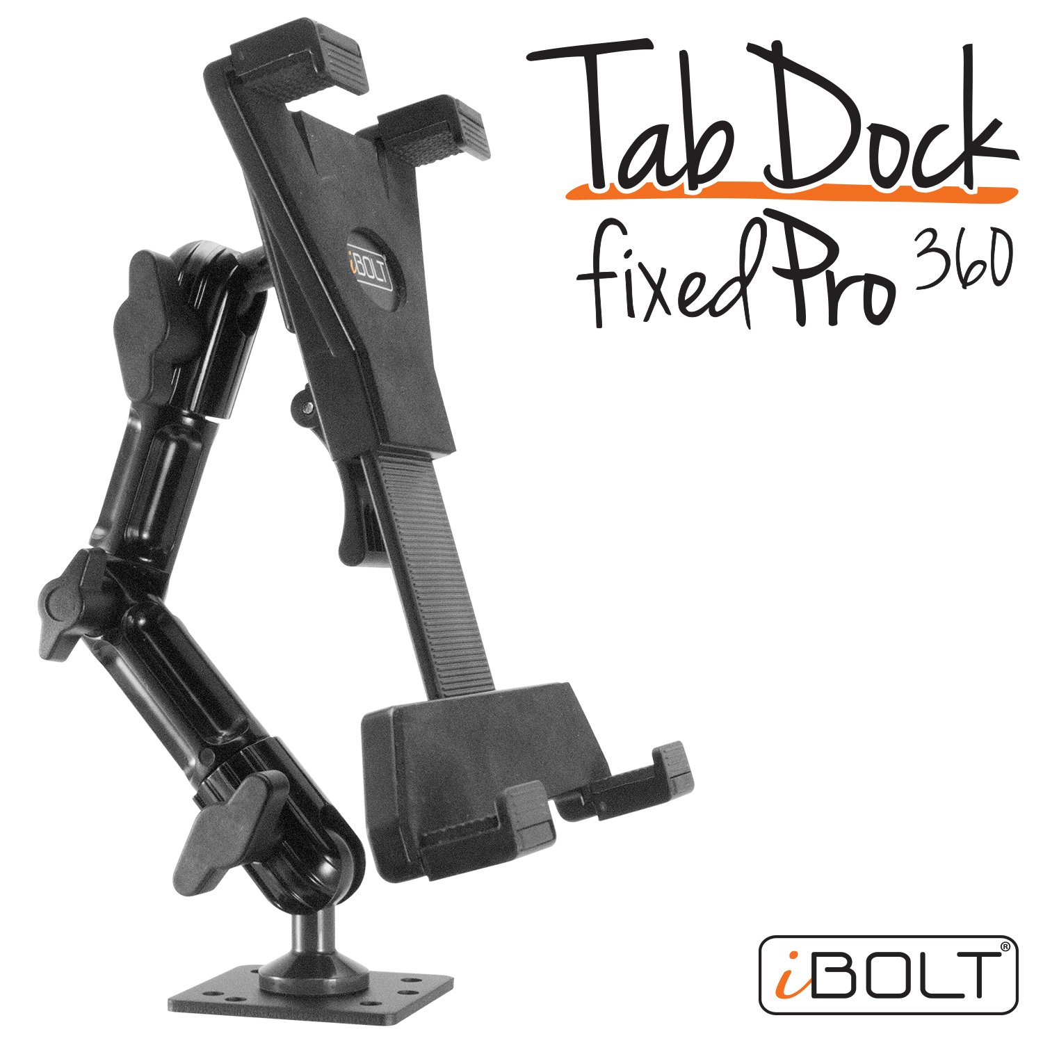 "etc iPad, Nexus, Samsung Tab iBOLT TabDock FixedPro 360 -Heavy Duty Metal 8/"" Multi-Angle Drill Base Mount for All 7-10 Tablets Businesses IBBZ-33768 Countertops : Great for Homes for Desks Tables"