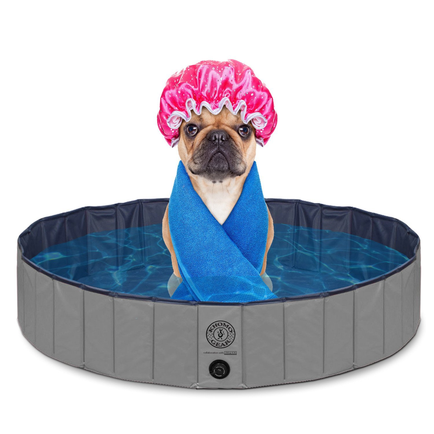 Outdoor Swimming Pool Bathing Tub - Portable Foldable - Ideal for Pets - Large 47'' x 12'' by KOPEKS