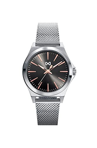 Mark Maddox Reloj Analógico para Mujer de Cuarzo con Correa en Acero Inoxidable MM7102-17: Amazon.es: Relojes