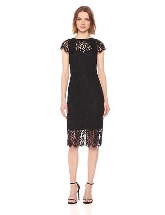 ffaad5e70648 bebe Women's Cap Sleeve All Over Lace Midi Dress at Amazon Women's ...