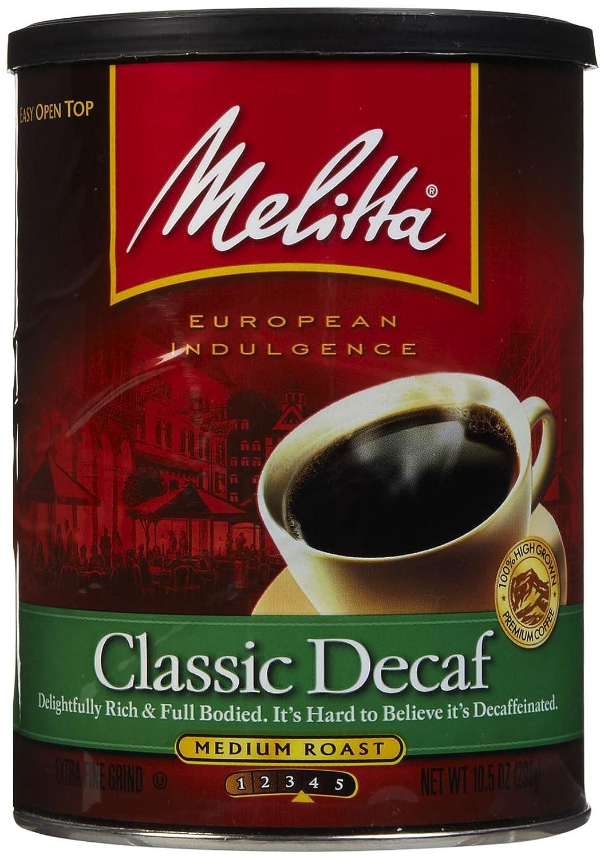 Melitta Classic Decaffeinated Ground Coffee, 10.5 oz (Pack of 2)