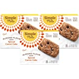 Simple Mills Almond Flour Snack Bars (Spiced Carrot Cake) with Organic Coconut Oil, Chia Seeds, Sunflower Seeds, and…