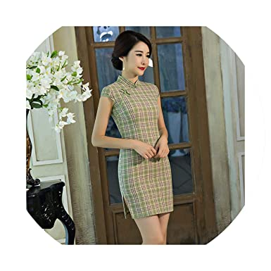 2faeb103f1c4b Amazon.com: Short Cheongsam Traditional Chinese Dress Women Sexy ...