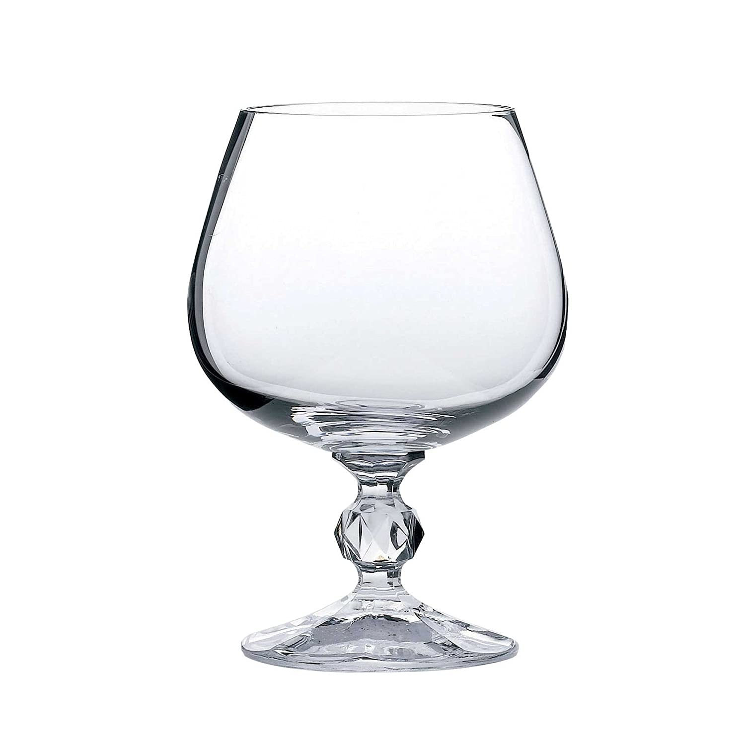 Claudia Cystal Brandy Glasses 8.75oz / 250ml - Set of 6 - Bohemia Klaudie Goblets Bohemia Crystal Glass