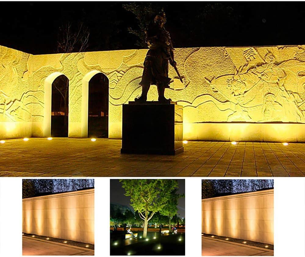 8PCS Blanco C/álido TONGXU Luz LED COB 3W Luces de Tierra Suelo Led L/ámpara de Subterr/ánea 12V IP67 Impermeable Plazas Jardines Parques al Aire Libre Exterior C/ésped