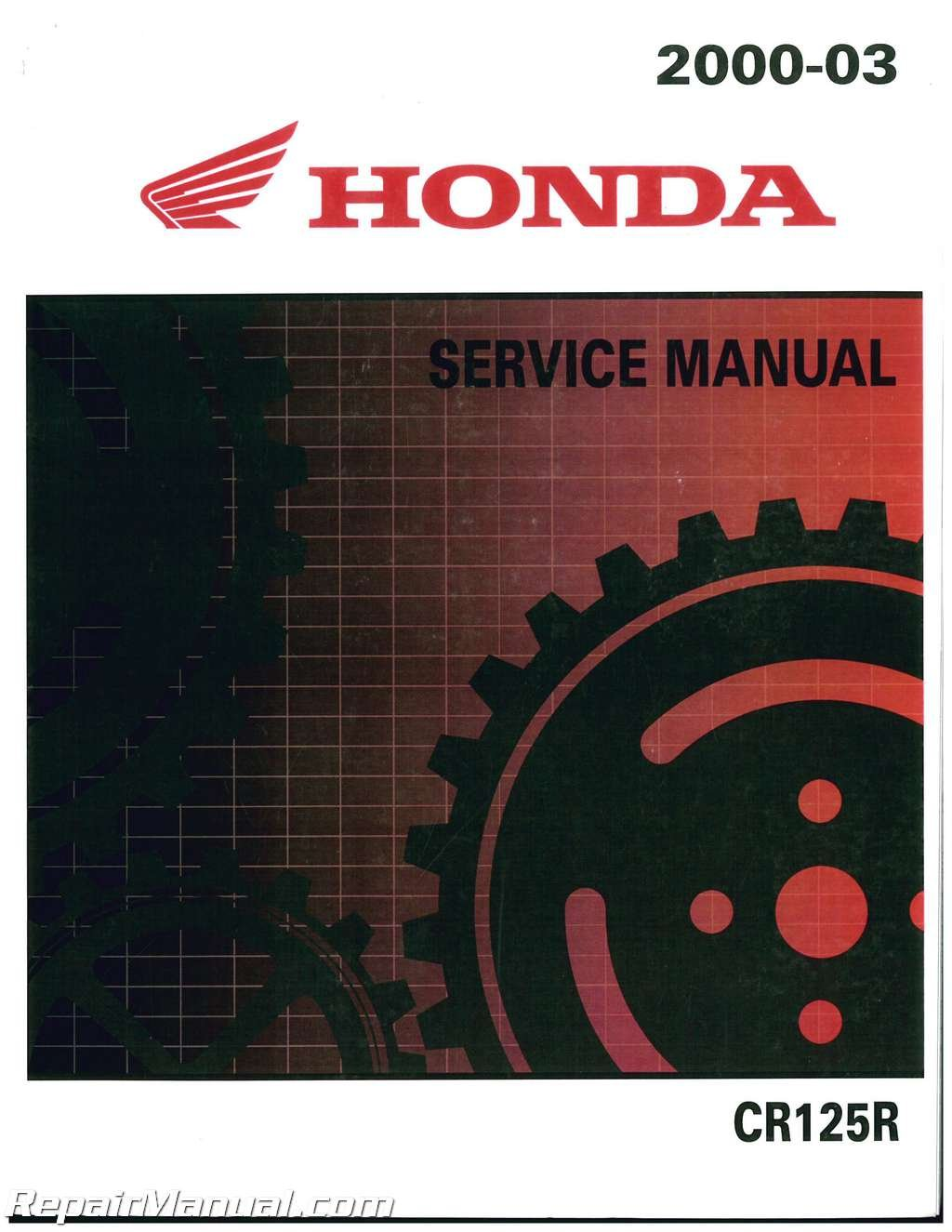 61KZ463 2000-2003 Honda CR125 Motorcycle Service Manual pdf epub
