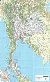 Thailand Political Map Paper Laminated A2 Size 42 X 59 4 Cm