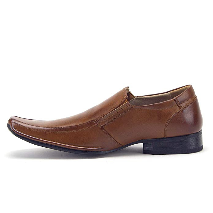 Amazon.com   Mens 88263 Classic Square Toe Slip On Loafers Casual Dress Shoes   Loafers & Slip-Ons