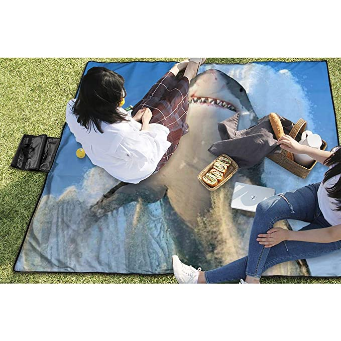 Amazon.com: Nyligas Shark Family Picnic Mat 57X59 Picnic ...