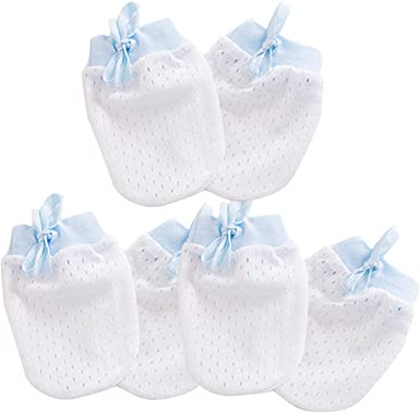 10 PAIRS 100/% COTTON  Mixed  Color MITTENS GLOVES NEW BORN BABY 0-6 Months