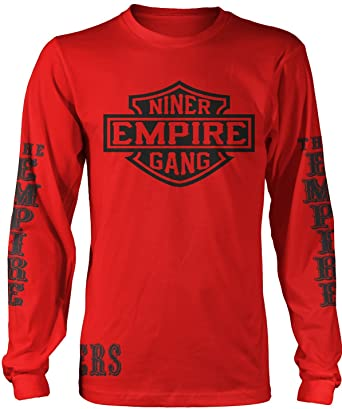 20f1cc18a4f Amazon.com  Millionaire Mentality Niner Empire Gang Long Sleeve Red ...