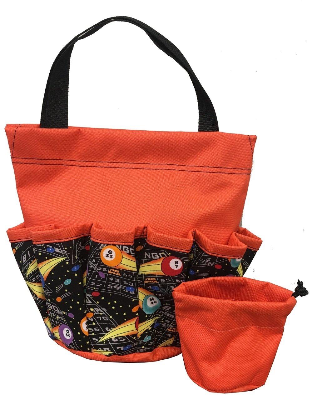 10 Pocket ''Free Space Orange'' Velcro Bingo Bag