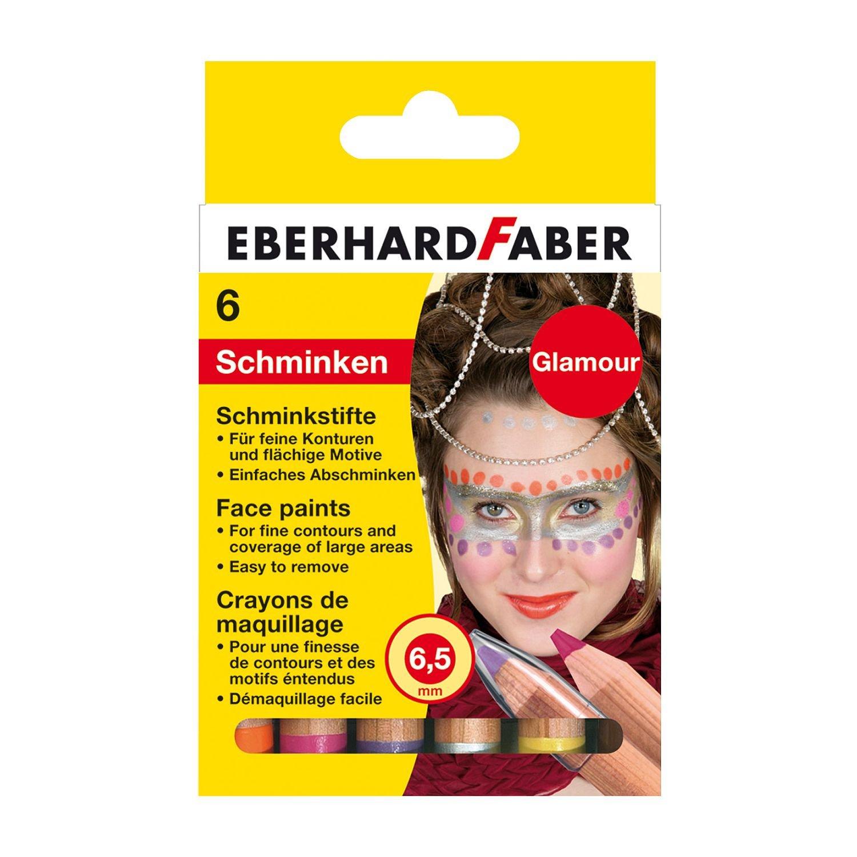 Eberhard Faber Schminkstifte Glamour 6 Stk Kinderschminke Karneval Fasching