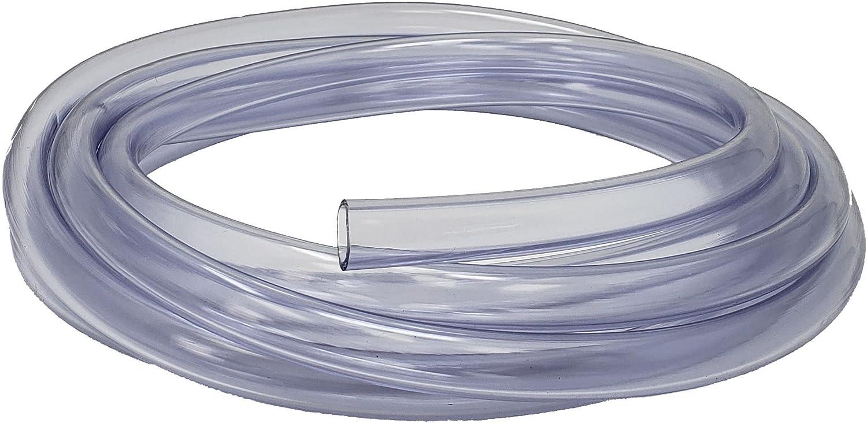 Rollerflex Food Grade Crystal Clear Vinyl Tubing, 3/8-Inch ID x 1/2-Inch OD (10 Ft)