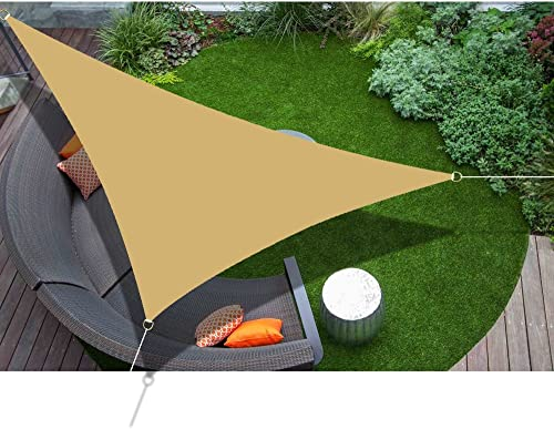 Alion Home 10' x 10'x 10' Triangle Waterproof Woven Sun Shade Sail