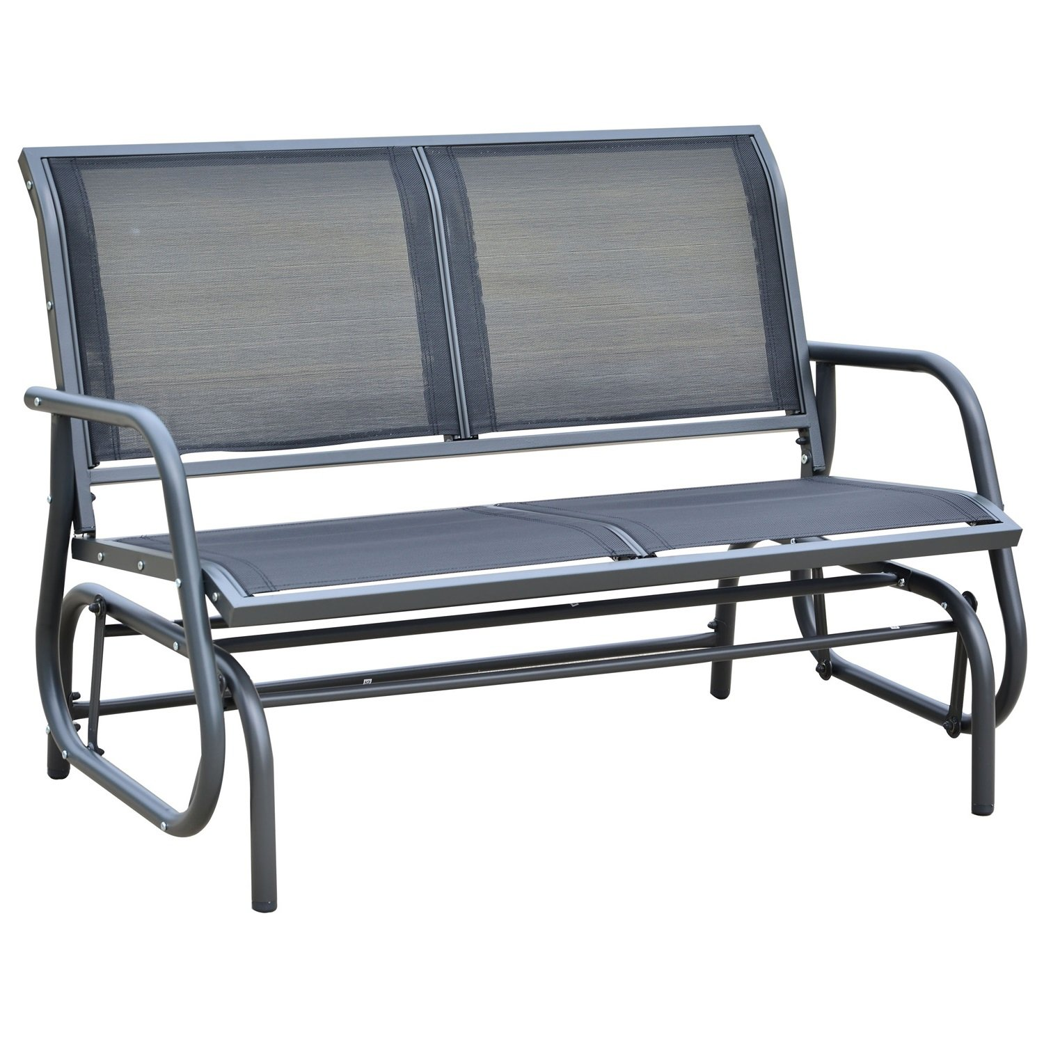 "Amazon Outsunny 48"" Outdoor Patio Swing Glider Bench Chair"