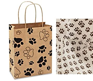Greatest Amazon.com: Paw Print Gift Bag Set Set of 5 gift bags with paw  YZ23