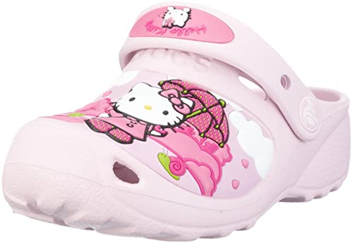 389640c52 Crocs Junior Hello Kitty Fun Rain Or Sun Custom Clog Bubblegum Bubblegum  Mules And Clogs