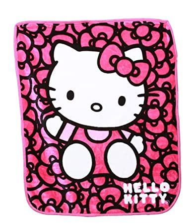 c0617111f Amazon.com: Toddler Bedding Bed Blanket Hello Kitty Royal Plush Raschel Throw  Blanket Oversized 60-by-80-inch Girly Bedding Pink: Baby