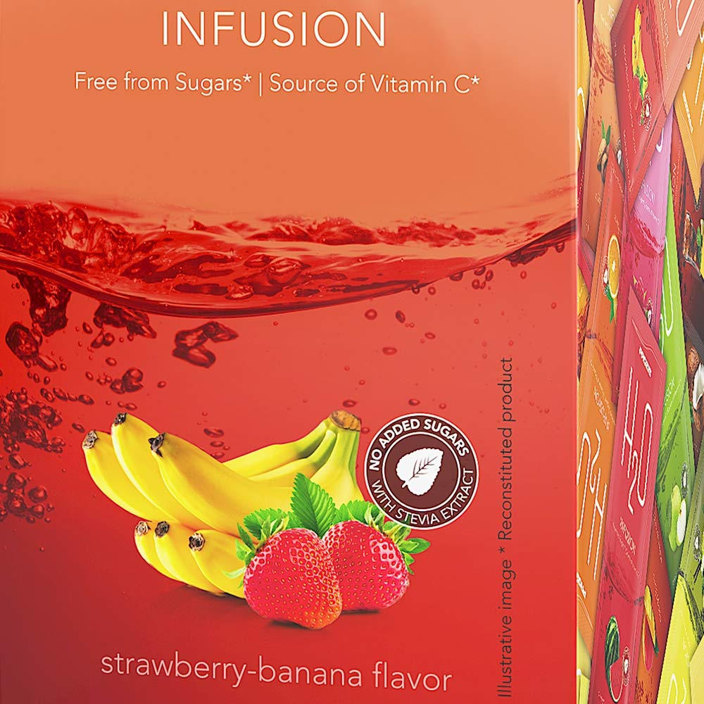 Prozis H2O Infusion Strawberry y Banana - 1 Paquete de 1 x 500 gr - Total: 500 gr