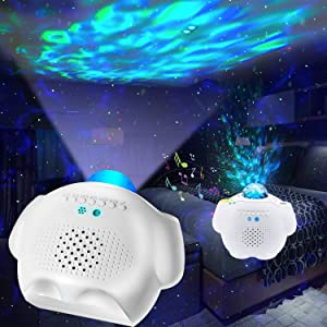Star Projector, Galaxy Light Projector for Bedroom 3 in 1 Ocean Wave Projector for Baby Kids Bedroom/Party Decoration/Home Theatre/Night Light Ambiance