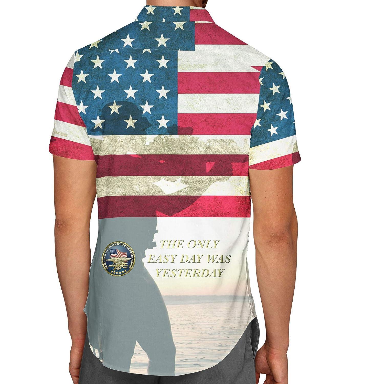 Navy Seals USA Mens Button Down Short Sleeve Shirt