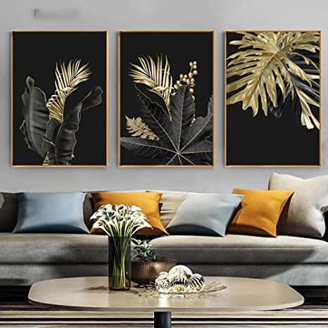 Plant Leaf Abstract Painting Modern Canvas Wall Art Poster Print Home Decoration