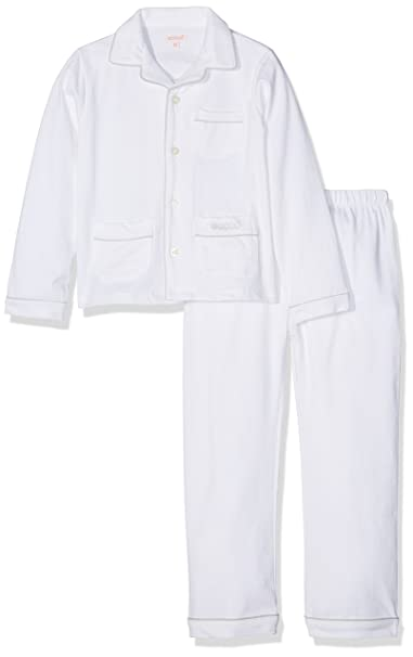 Gocco S72LTLCA502, Conjuntos de Pijama para Niños, Blanco, 92