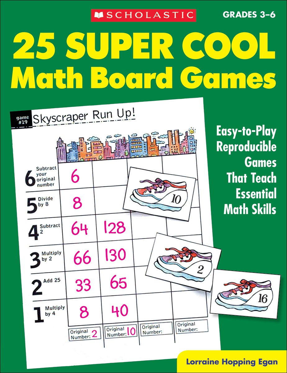Amazon 25 Super Cool Math Board Games Easy To Play