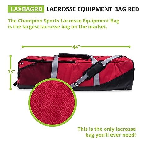 50c50ea11423 Amazon.com   Champion Sports Lacrosse Equipment Bag  Duffel Sports Bag for  Mens   Womens