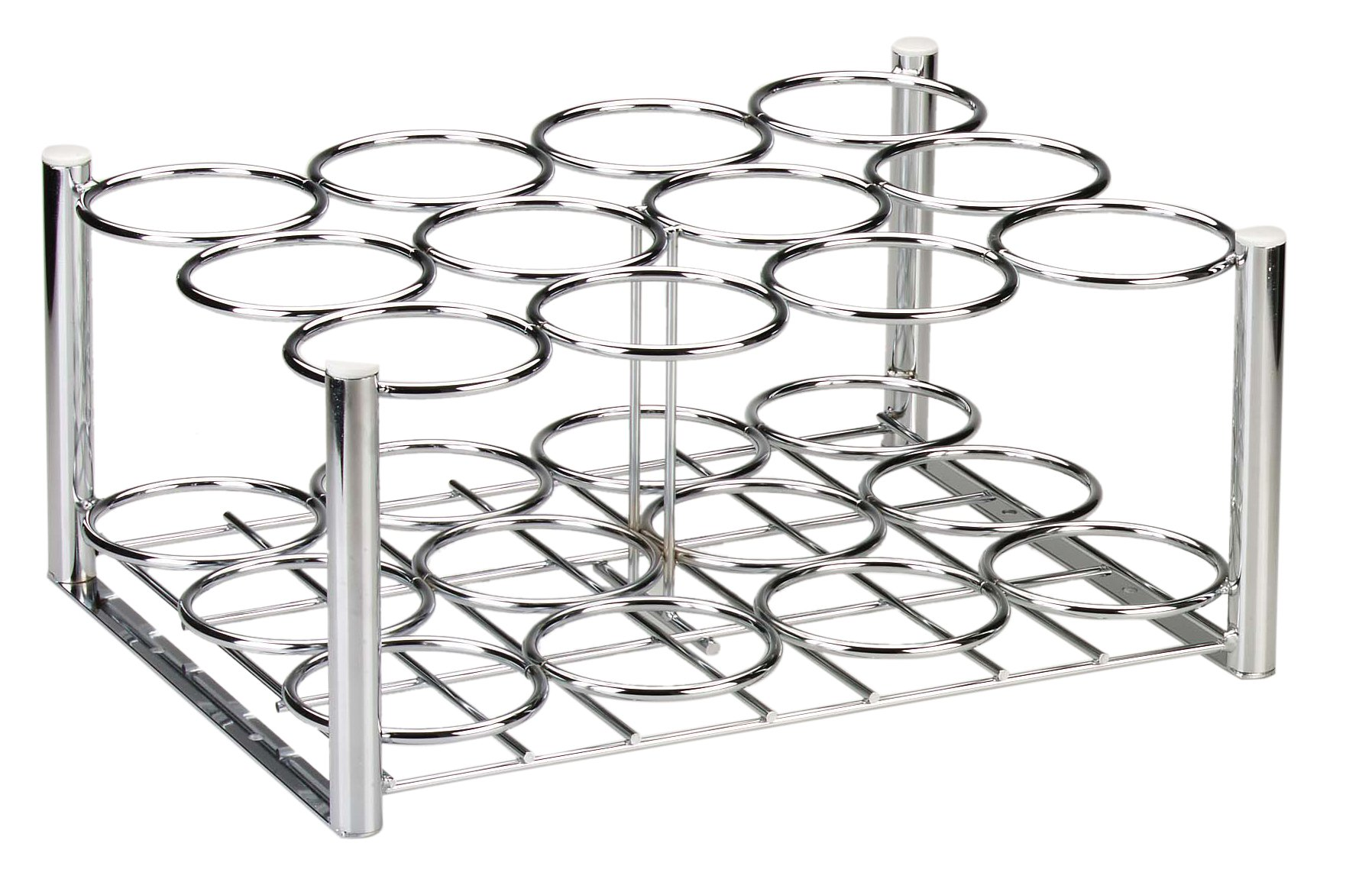 Drive Medical Deluxe Oxygen Cylinder Rack, Chrome, 20.3'' x 15.6'' x 9.3''