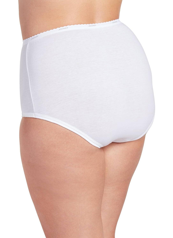 6a5ea58e979 Jockey Women's Underwear Plus Size Classic Brief - 6 Pack at Amazon Women's  Clothing store: