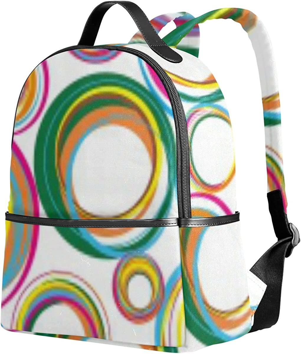Mr.Weng Color Small And Pure Fresh Air Bubbles Printed Canvas Backpack For Girl and Children