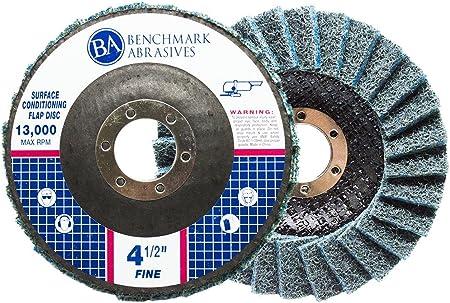 "4-1//2/"" x 7//8/"" Ceramic 60 Grit Flap Discs Premium Grinding Wheels T27 10 Pack"