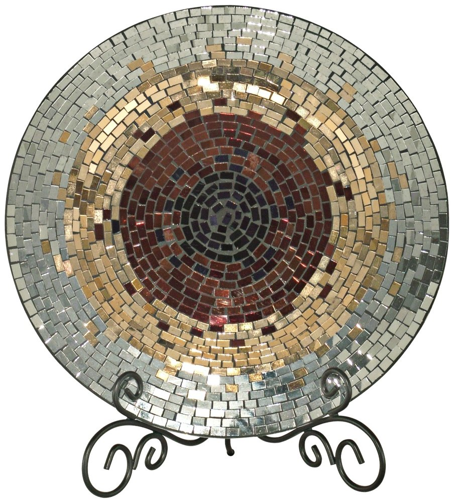 Amazon.com Dale Tiffany Antique Gold Mosaic Charger Plate Home \u0026 Kitchen  sc 1 st  Amazon.com & Amazon.com: Dale Tiffany Antique Gold Mosaic Charger Plate: Home ...
