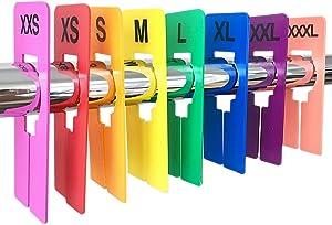 Discount Sizing 16 PCS Colored Clothing Rectangular Size Dividers XXS-XXXL 2 PCS/Size