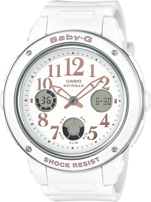 Casio Women's Baby G BGA150EF-7B White Rubber Quartz Sport Watch
