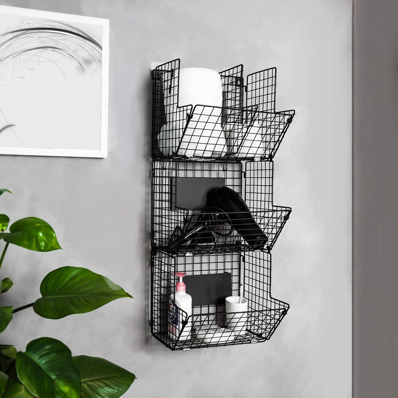 Amazon.com: Merya - Cesta de alambre de metal para montaje ...
