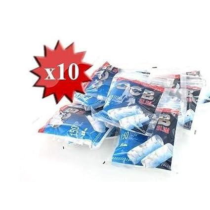 Solo Por NAVIDAD10 Bolsas de Filtros OCB Slim. Cada bolsa precintada contiene 150 filtros. Cada filtro cuenta con un grosor de 6 mm. Oferta total: ...