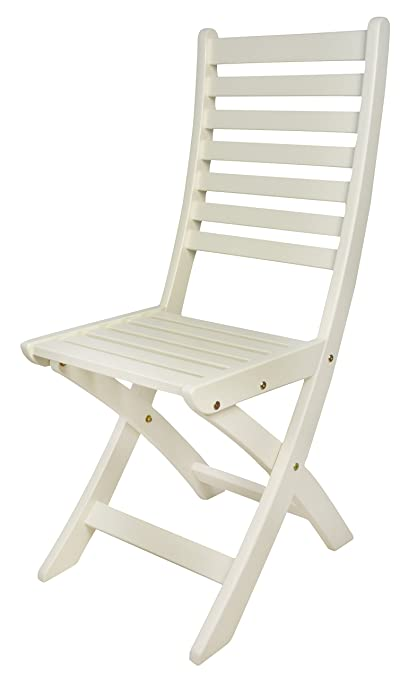 Amazon.com: Esschert Design Silla plegable, Blanco: Jardín y ...