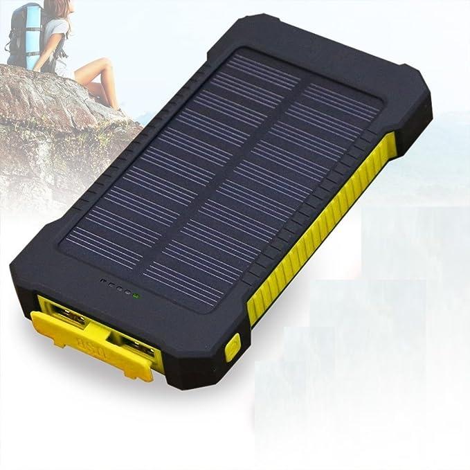 Cargador solar, Solar Power Bank 30000 mAh portátil lluvia ...