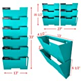 Tiffany Blue Wall Mount Hanging File Holder