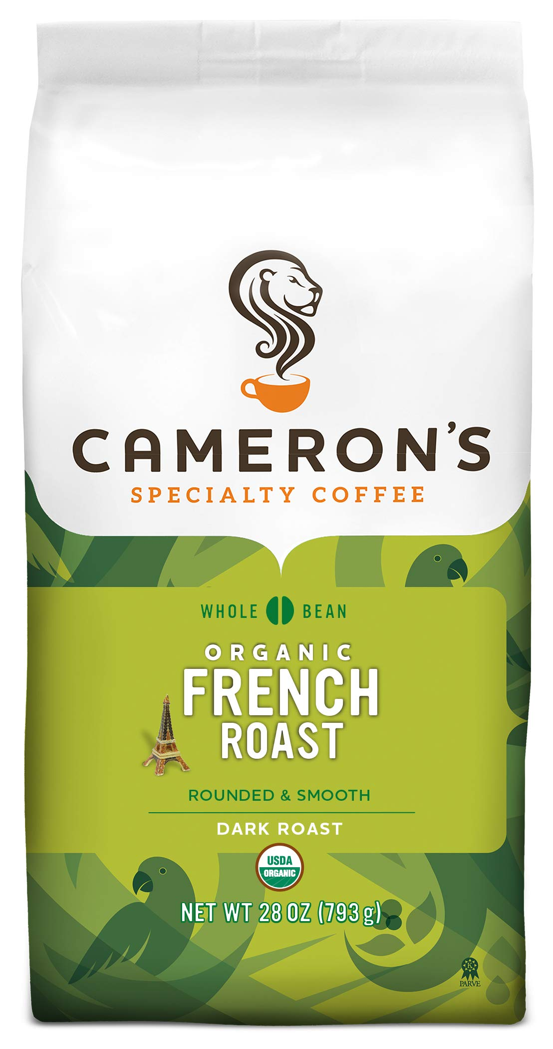 Cameron's Coffee Roasted Whole Bean Coffee, Organic French Roast, 28 Ounce by Cameron's Coffee