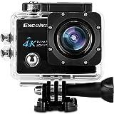 "Excelvan Q8 - Action Cam WiFi 4K 30FPS FHD 1080P 170° Grandangolare 2.0"" Schermo LCD Impermeabile Sports Camera Fotocamera Videocamera Digitale Cam Video Car DVR, Nero"